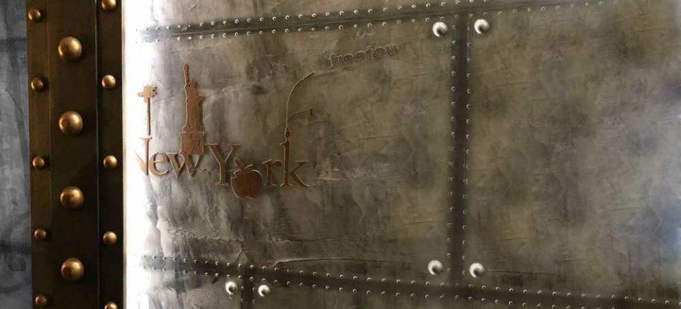 Peintre décorateur murs métal style industriel et eiffel