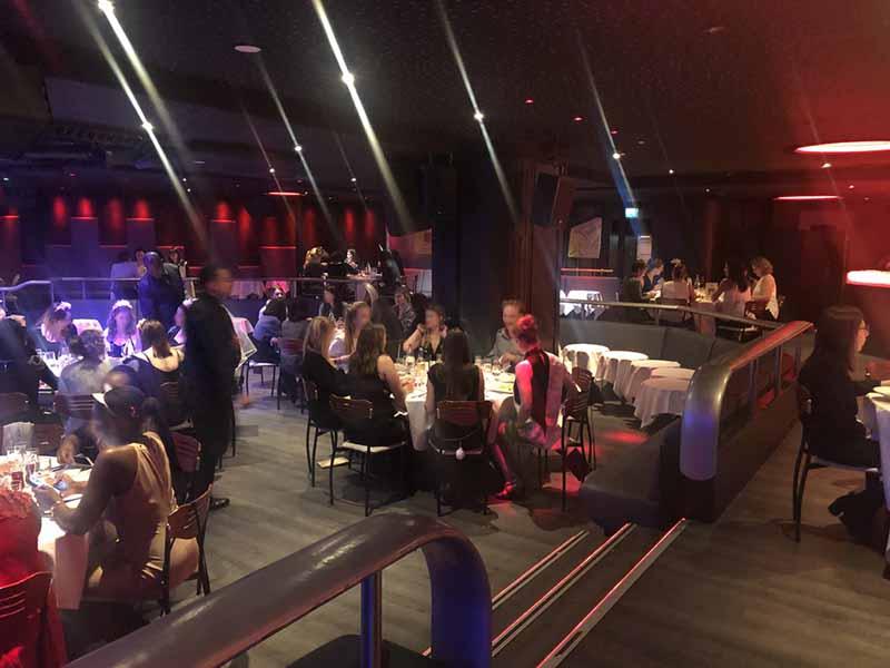 soirée EVJF au restaurant chippendale du Vogue